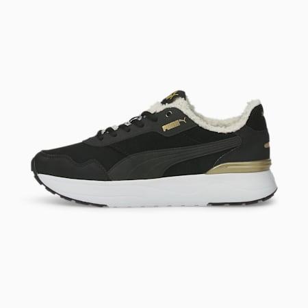 Zapatillas para mujer R78 Voyage Teddy, Puma Black-Puma Black-Puma Team Gold, small