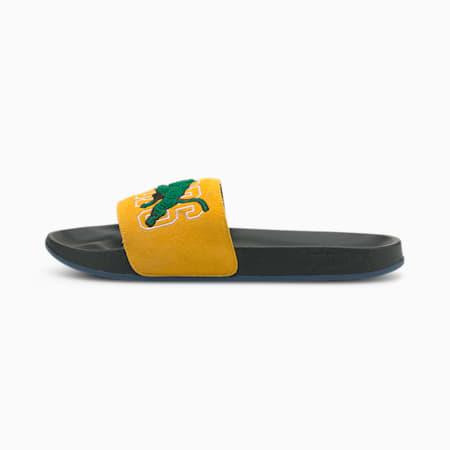 Leadcat FTR Basketball Signing Day Sandals, Puma Black-Saffron-High Risk Red, small-SEA