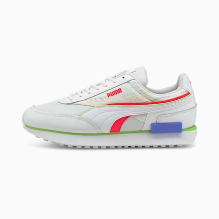 Future Rider Double Spectra Unisex Sneakers, Puma White-Sunblaze-Green Glare, small-IND