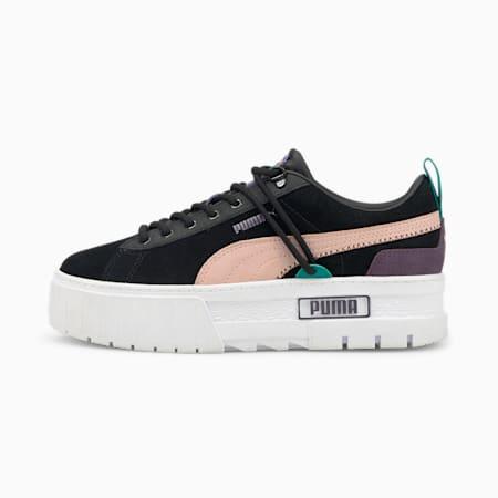 Zapatos deportivos Mayze Bright Heights para mujer, Puma Black, pequeño
