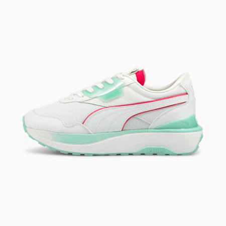 Zapatos deportivos Cruise Rider City Lights para mujer, Puma White-Eggshell Blue, pequeño