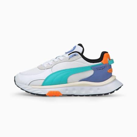 Wild Rider NRG Damen Sneaker, Puma White-Elektro Aqua, small