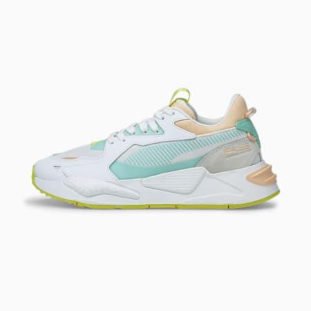 Zapatos deportivos RS-Z Pop para mujer, Puma White-Peach Parfait, pequeño