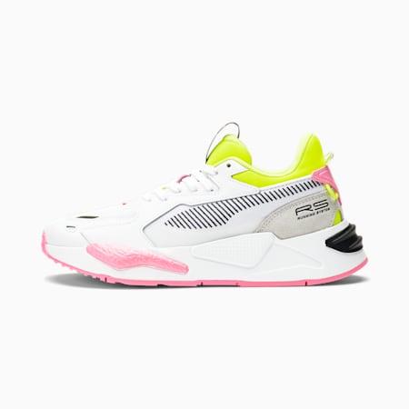 Zapatos deportivos RS-Z Pop para mujer, Puma White-Yellow Alert-Pink Glimmer, pequeño