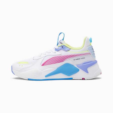 Zapatos deportivosRS-X Airbrush para mujer, Puma White-ULTRA MAGENTA-Fizzy Yellow, pequeño