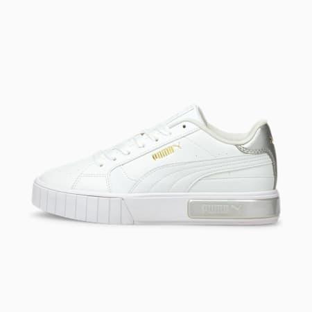 Zapatos deportivos Cali Star Metallic JR, Puma White-Puma White, pequeño