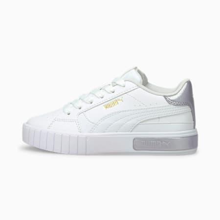 Baskets Cali Star Metallic enfant, Puma White-Puma White, small