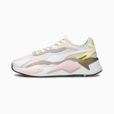 RS-X³ Puzzle V2 Trainers, Pearl-Puma White-Yellow Pear, small