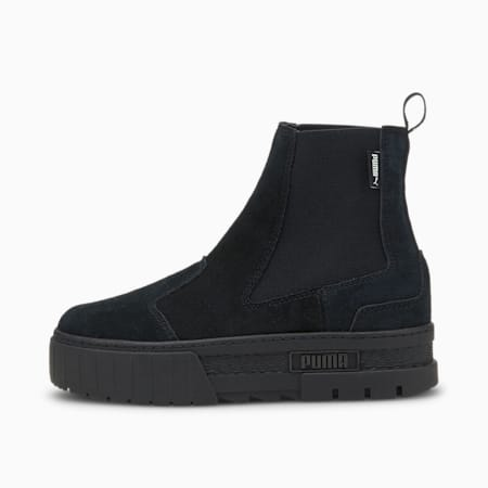 Mayze Chelsea Suede Women's Boots, Puma Black, small-GBR