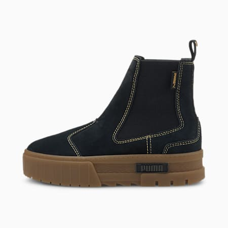 Mayze Chelsea Suede Women's Boots, Puma Black-Gum, small
