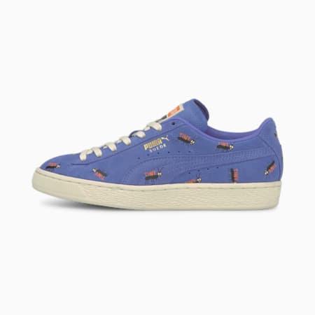 PUMA x TINYCOTTONS Suede Sneakers JR, Baja Blue-Whisper White, pequeño