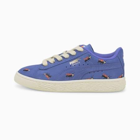 PUMA x TINYCOTTONS Suede Little Kids' Shoes, Baja Blue-Whisper White, pequeño