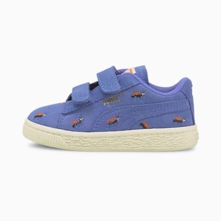 PUMA x TINYCOTTONS Suede Toddler Shoes, Baja Blue-Whisper White, pequeño