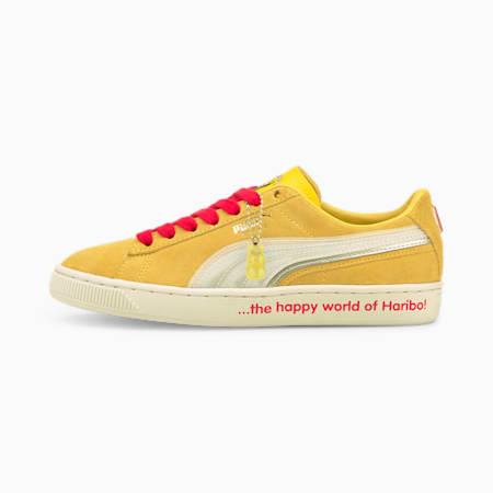 Młodzieżowe buty sportowe PUMA x HARIBO Suede Triplex, Mimosa-Whisper White, small