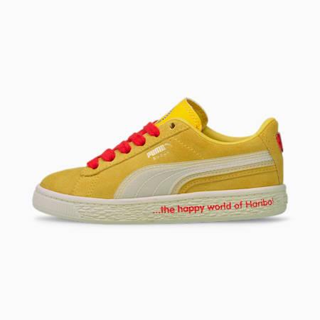 Zapatos deportivos PUMA x HARIBO Suede Triplex de niño pequeño, Mimosa-Whisper White, pequeño