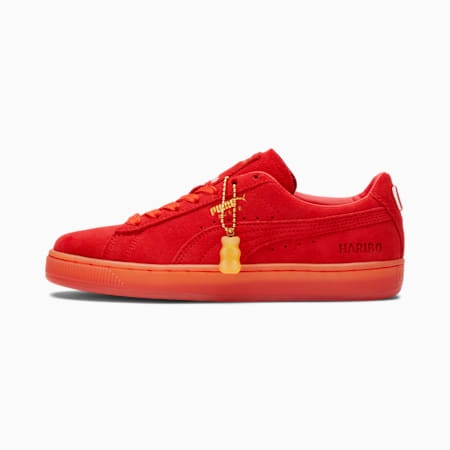 Zapatos deportivos PUMA x HARIBO Suede JR, Poppy Red-Poppy Red, pequeño