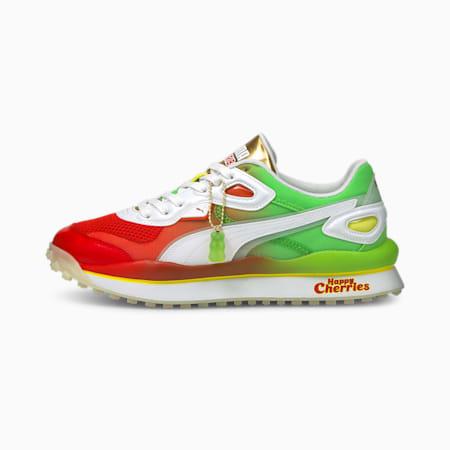 Zapatos deportivos PUMA x HARIBO Street Riderpara hombre, Poinciana-Jas Green-White, pequeño