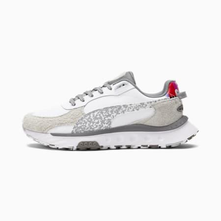 Zapatos deportivos Wild Rider White Noise, Puma White-Quarry-QUIET SHADE, pequeño