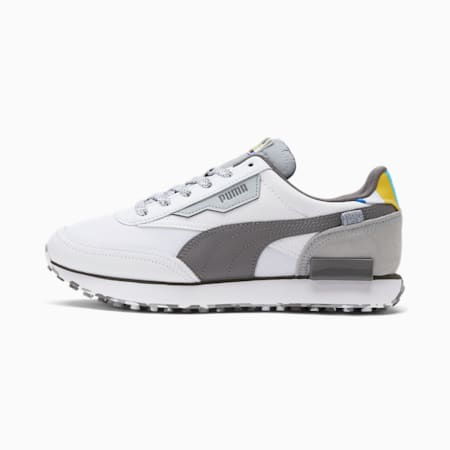 Zapatos deportivos Future Rider White Noise para hombre, Puma White-QUIET SHADE-Quarry, pequeño