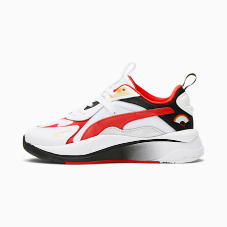 Zapatos deportivos RS-Curve Art of Sport para mujer, Puma White-High Risk Red-Puma Black, pequeño