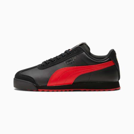 Zapatos deportivos Roma Art of Sport JR, Puma Black-High Risk Red, pequeño