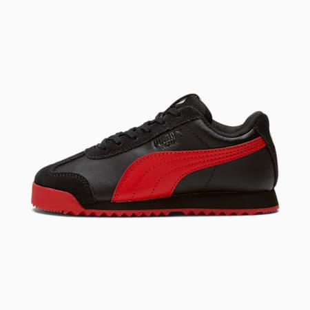 Zapatos Roma Art of Sport para niño pequeño, Puma Black-High Risk Red, pequeño