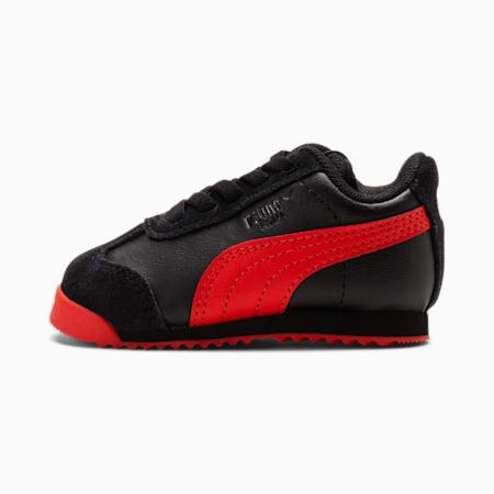 Zapatos Roma Art of Sport para bebé, Puma Black-High Risk Red, pequeño