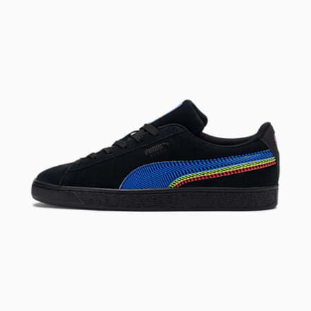 Zapatos deportivos Dazed Suede Triplex, Puma Black-Bluemazing-Sunblaze, pequeño