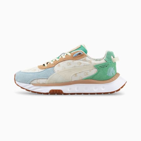 Baskets Wild Rider PUMA x Animal Crossing™: New Horizons pour homme, Light Sky-Whisper White, small