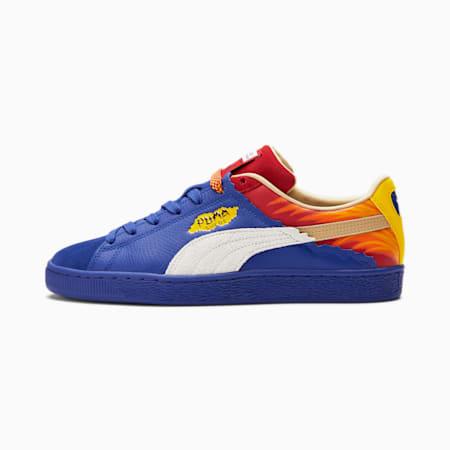 Zapatos deportivos Suede Layers Firecracker, Mazarine Blue-Barbados Cherry-Vibrant Yellow, pequeño