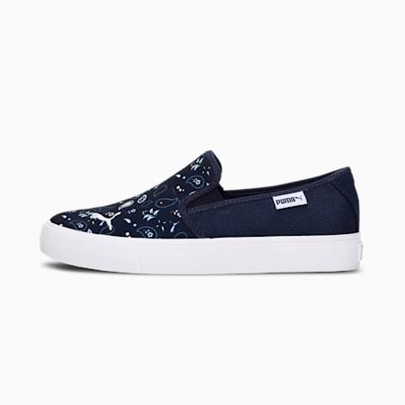 Bari Slip-on Bandana Women's Sneakers, Peacoat-Puma White-Puma Black, small-IND