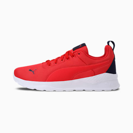 Anzarun Lite IDP Unisex Shoes, Poppy Red-Puma White-Peacoat, small-IND