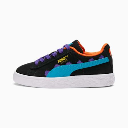 Zapatos deportivos PUMA x RUGRATS Suedepara niños, Puma Black-Caribbean Sea, pequeño