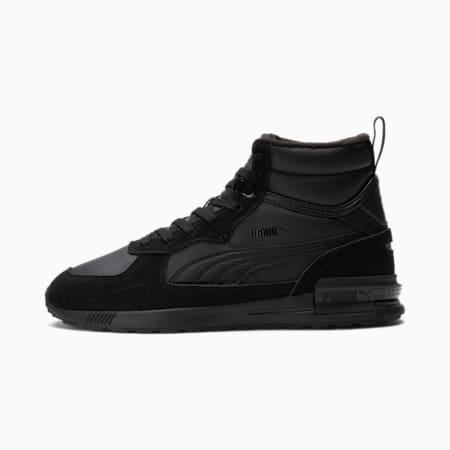 Zapatos deportivos de caña media Graviton, Puma Black-Puma Black, pequeño