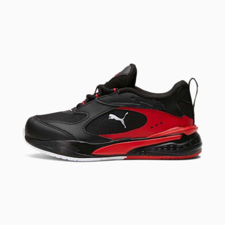 Zapatos deportivos RS-Fast Art Of Sport para niño pequeño, Puma Black-High Risk Red-Puma White, pequeño