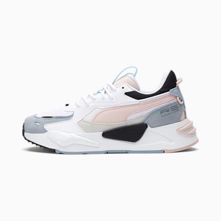 Zapatos deportivos RS-Z Reinvent para mujer, Puma White-Lotus-Blue Fog, pequeño