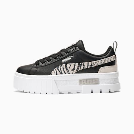 Zapatos deportivos Mayze Zebra JR, Black- Silver-Ivory Glow, pequeño
