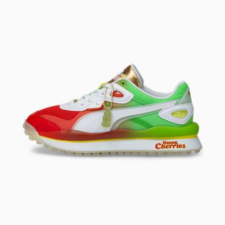 Zapatos deportivos PUMA x HARIBO Street Rider JR, Poinciana-Jas Green- White, pequeño