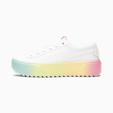 Zapatos deportivos Kaia Platform Fade para mujer, Puma White-Puma White-Peony, pequeño