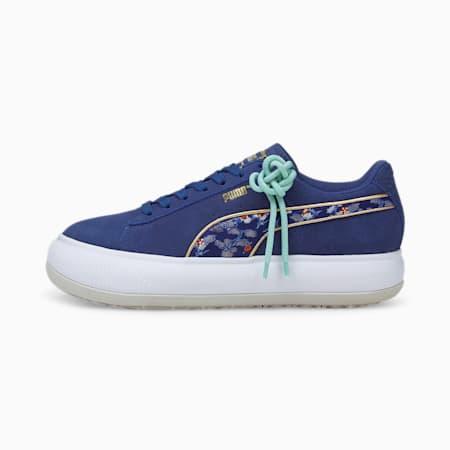 Zapatos deportivos Suede Mayu Kimono para mujer, Elektro Blue-Puma White-Nimbus Cloud, pequeño
