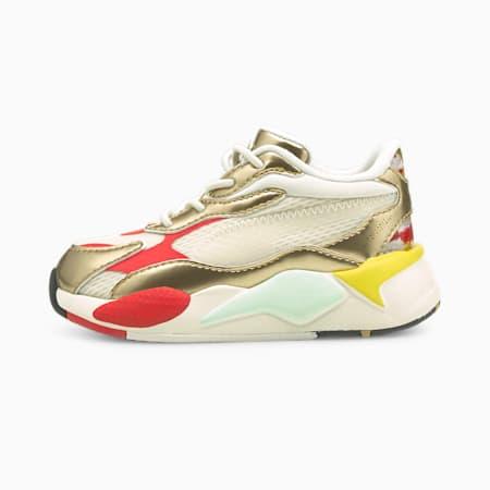 PUMA x HARIBO RS-X<sup>3</sup> Sneaker für Babys mit alternativem Verschluss, Whisper White-Puma Team Gold, small