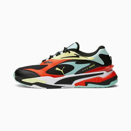 Zapatos deportivos RS-FAST Franchise, Puma Black-Eggshell Blue-Yellow Pear-Grenadine, pequeño