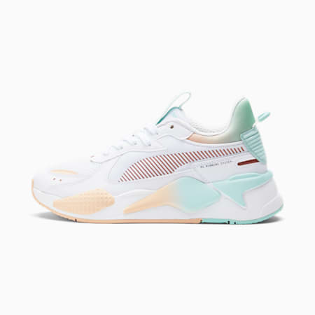 Zapatos deportivos Gloaming RS-X para mujer, Ivory Glow-Copper-Eggshell Blue, pequeño