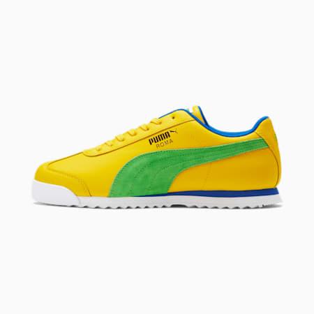 Zapatos deportivosRoma Brazil para hombre, Dandelion-Clsc Grn-Pma Ryl, pequeño