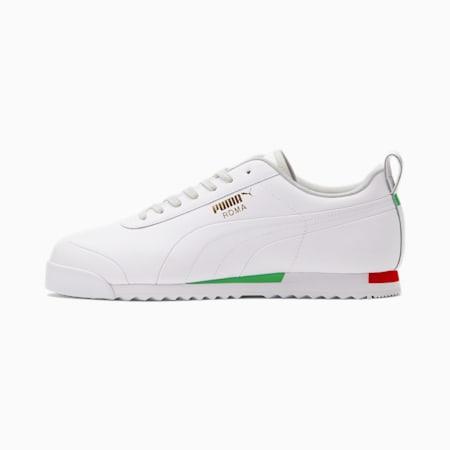 Zapatos deportivosRoma Italy, Puma White-Kelly Green-Flame Scarlet, pequeño