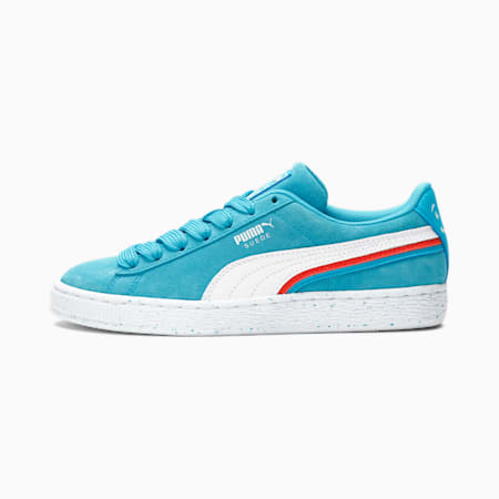 Zapatos deportivos PUMA x Kool-Aid Suede Triplex JR, Puma White-Blue Atoll, pequeño