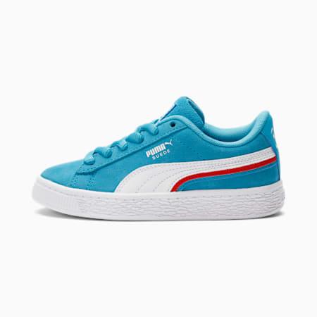 PUMA x Kool-Aid Suede Triplex Little Kids' Shoes, Puma White-Blue Atoll, pequeño