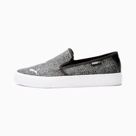 Zapatos sin cordones Bari Astro para mujer, Puma Black-Puma Silver-Puma White, pequeño