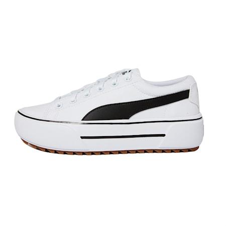 Zapatos deportivos con plataforma Kaia para mujer, Puma White-Puma Black-Gum, pequeño