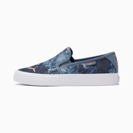 Zapatos deportivos sin cordones BariTextile Indigo JR, China Blue-Rose Gold, pequeño